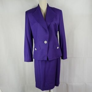 Christian Dior Skirt Suit Vintage Size 12